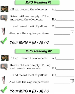Use this Form to calculate your vehicle's MPG.